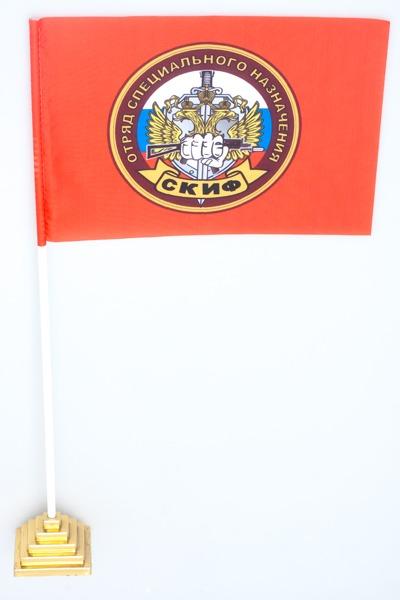 Двухсторонний флаг «16 отряд Спецназа ВВ Скиф»