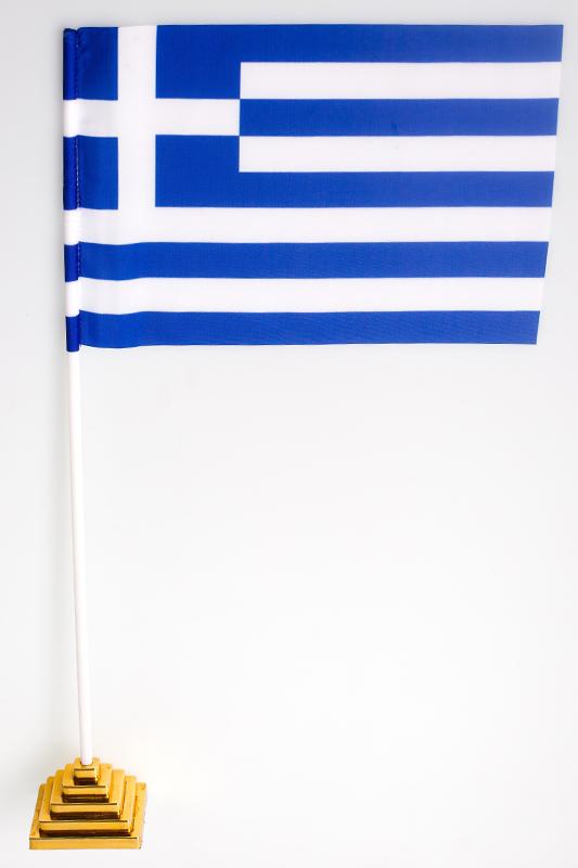 Флажок настольный Греция по акции