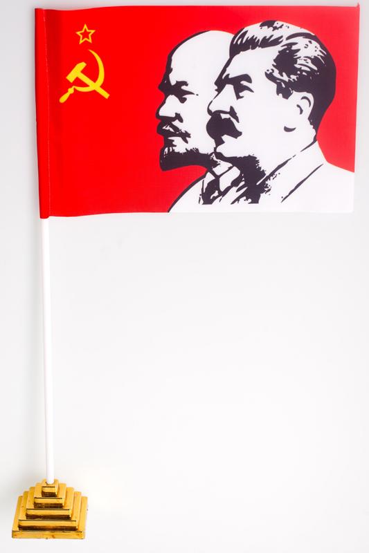 Флажок настольный Ленин и Сталин