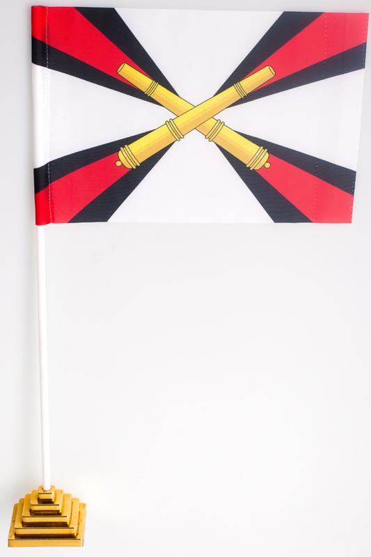 Флажок настольный Ракетных Войск и Артиллерии «РВиА»