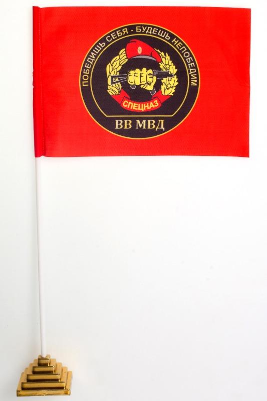 Флажок настольный Спецназ ВВ «с девизом»