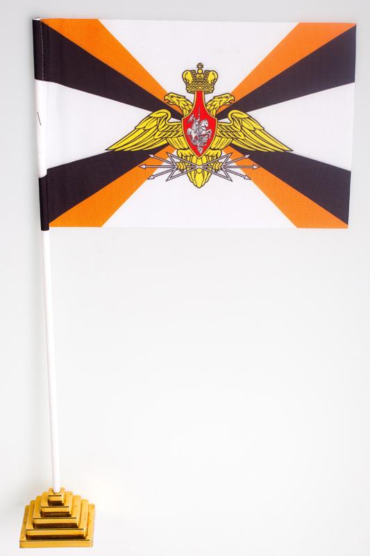 Флажок настольный «Войска связи» с эмблемой
