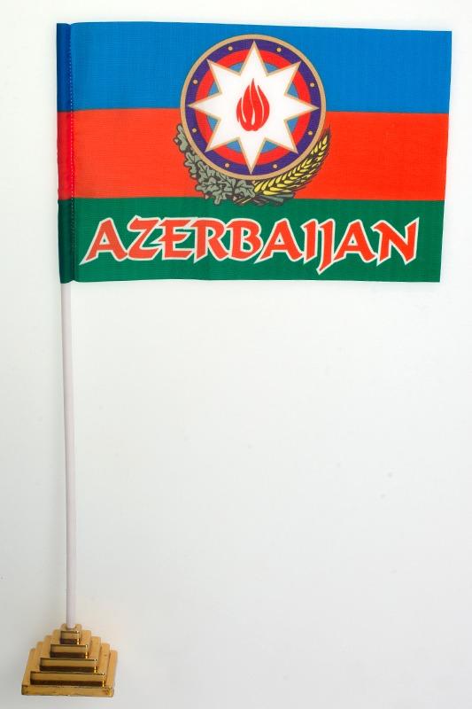 Флаг Республики Азербайджан с гербом