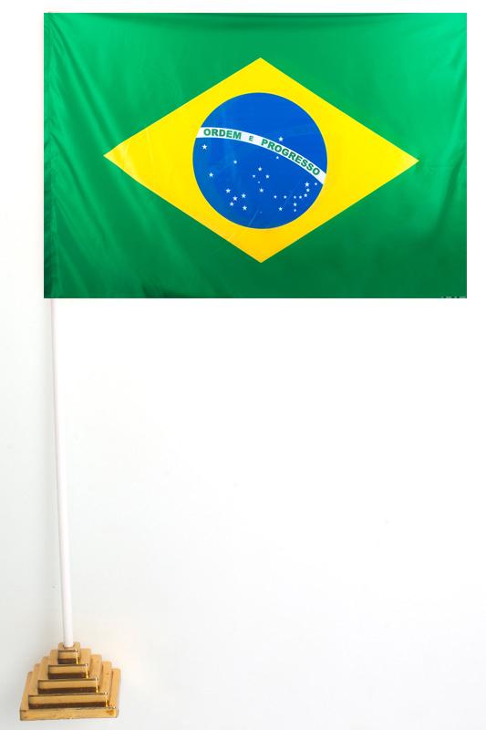 Флажок Бразилии настольный