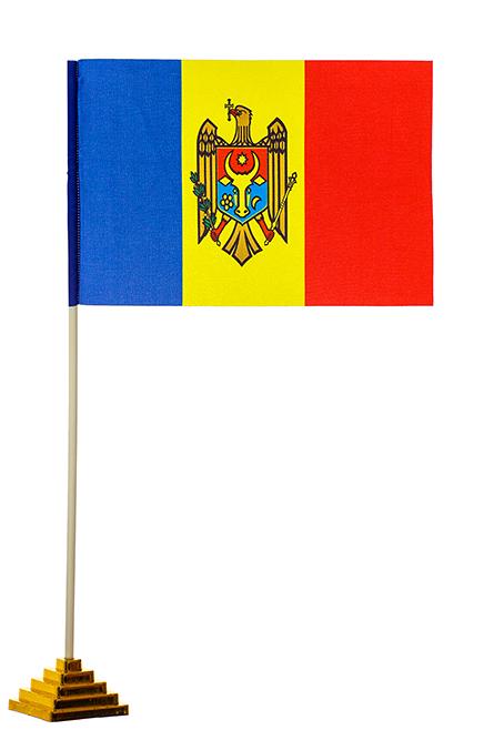 Флажок настольный Молдова