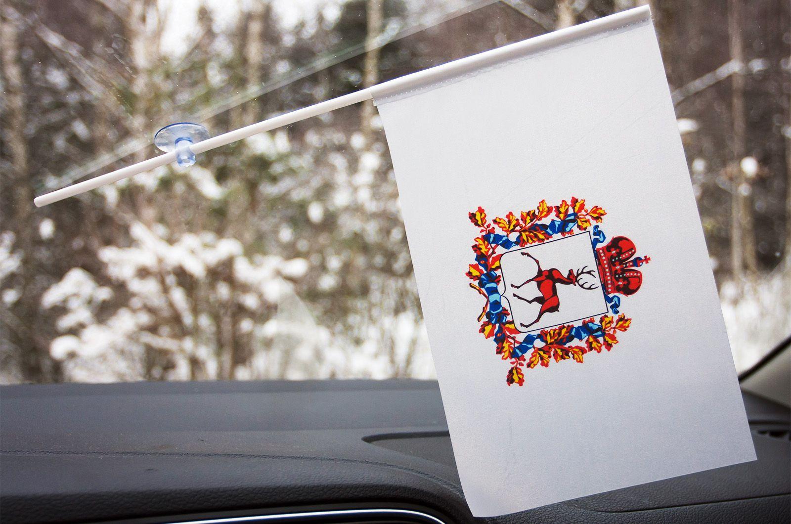 Флажок Нижегородской области в машину