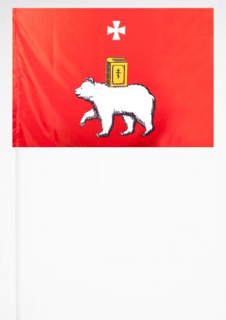 Флажок Перми на палочке