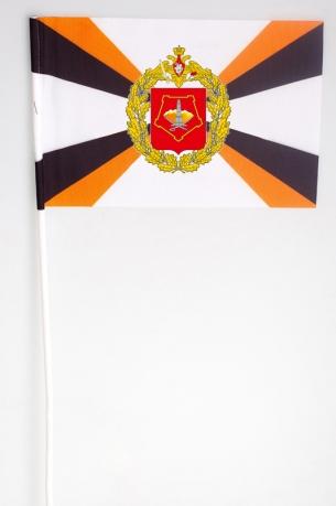 Флажок Приволжско-Уральского военного округа на палочке