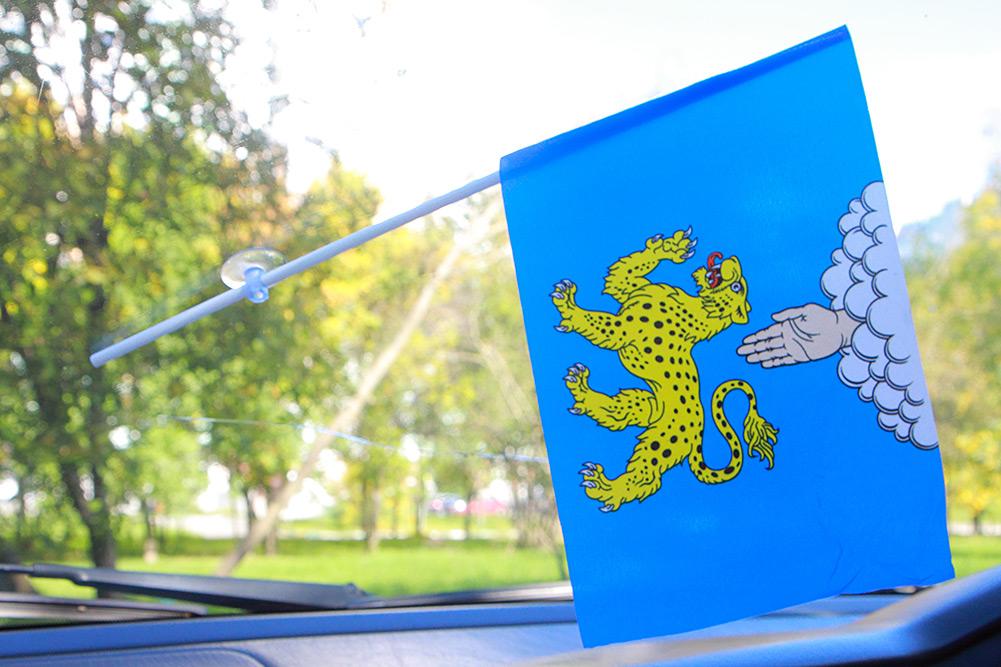 Флажок Пскова с присоской