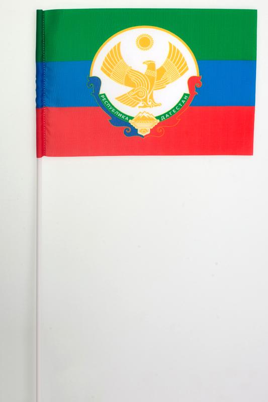 Флажок Республики Дагестан новый на палочке