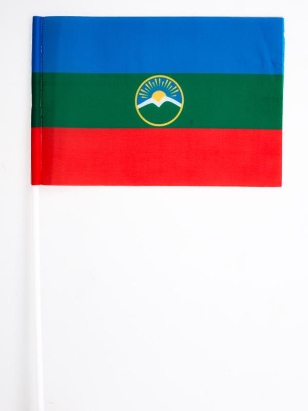 Флажок Республики Карачаево-Черкесия на палочке