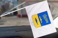 Флажок с гербом Мурманска в машину