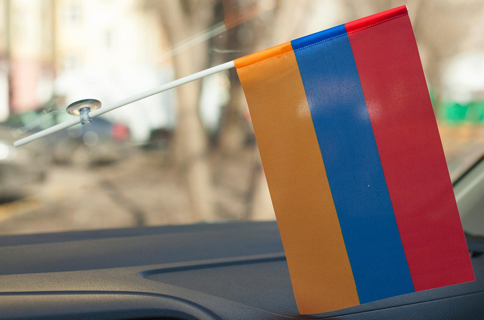 Автомобильный флажок Армении на присоске