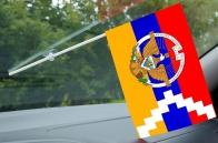 Флажок с присоской Республики Арцах с гербом