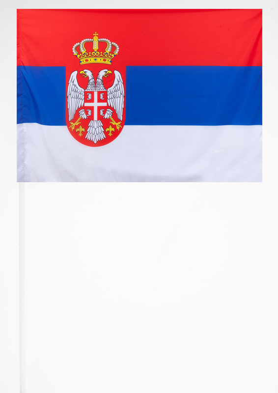 Флажок Сербии на палочке