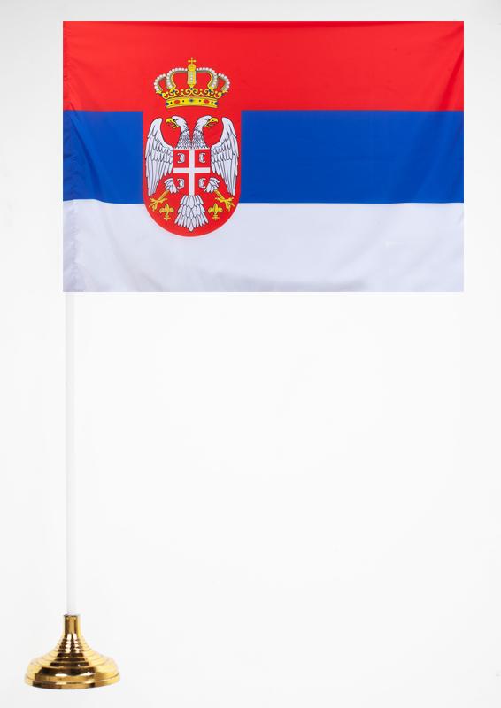 Флажок Сербии настольный