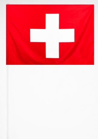 Флажок Швейцарии на палочке