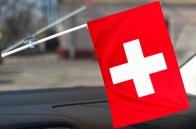 Флажок Швейцарии с присоской