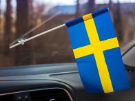 Флажок Швеции в машину с присоской по акции