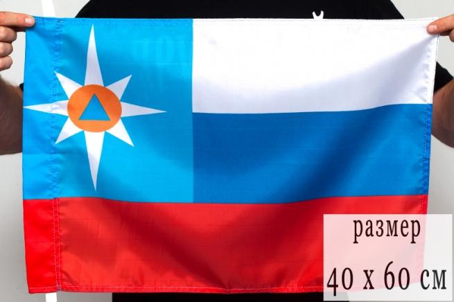 Флаг 40Х60 см МЧС «Триколор»