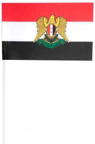 Флажок Сирии с гербом