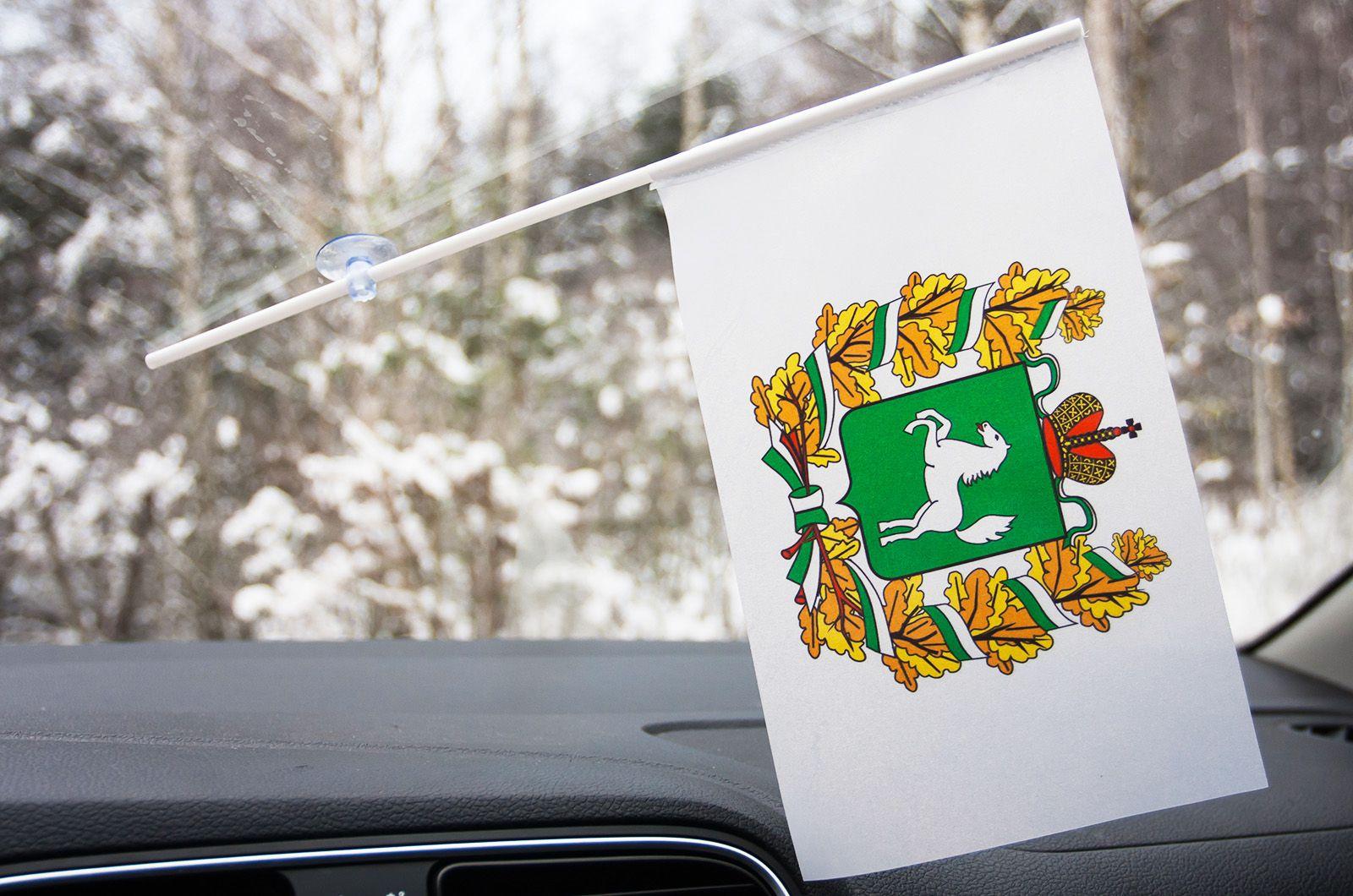 Флажок Томской области в машину