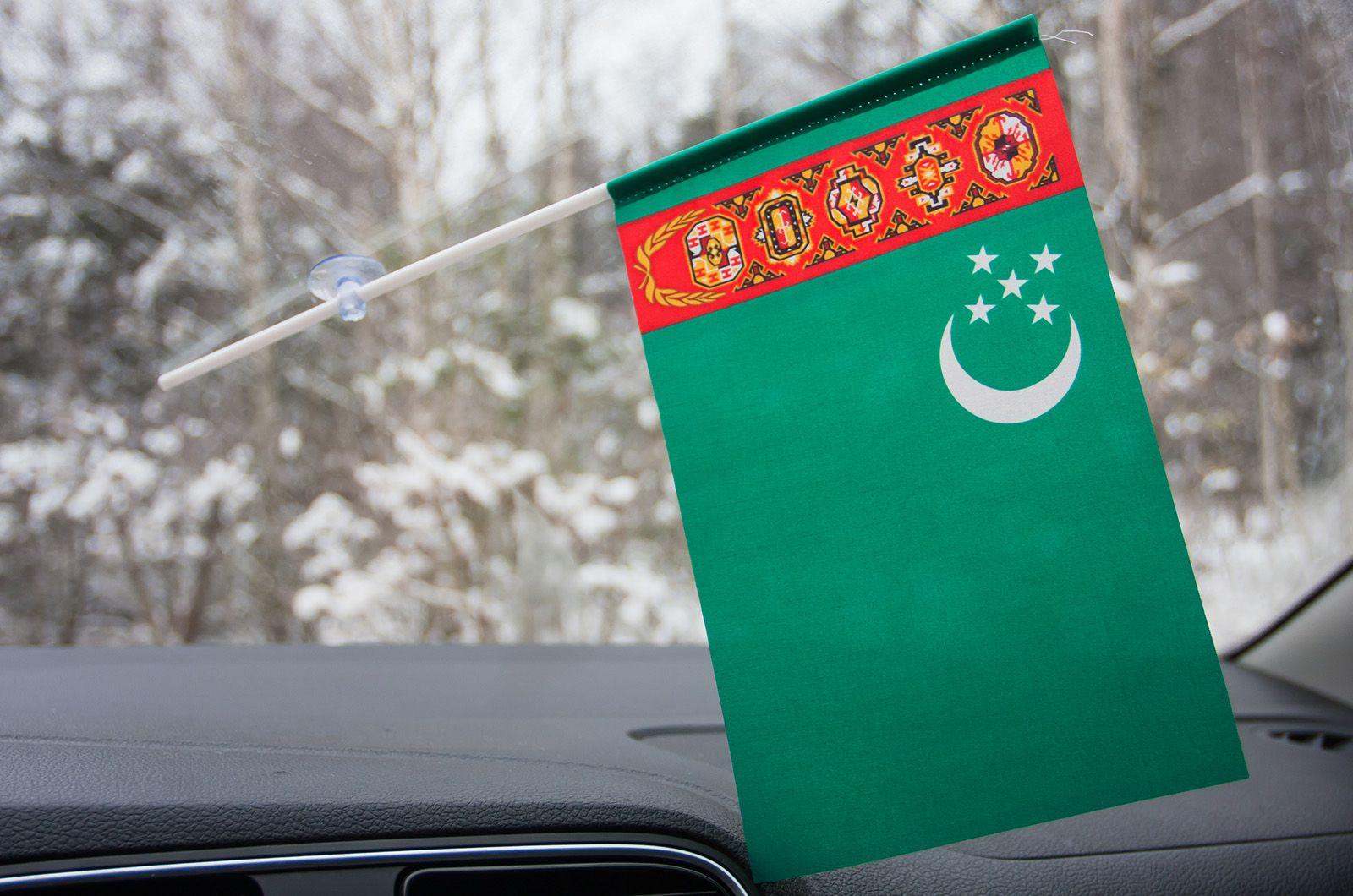 Флажок Туркменистана на присоске