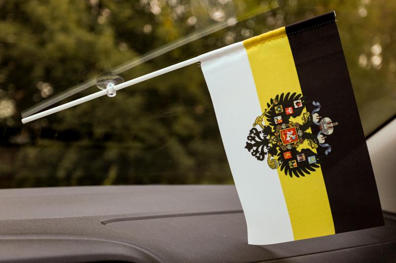 Флажок в машину с присоской Имперский с гербом
