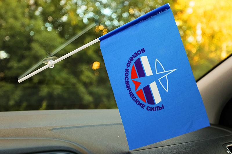 Флажок в машину с присоской Космические Войска