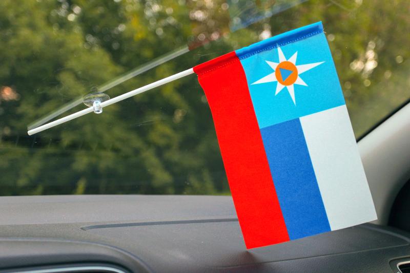 Представительский флаг МЧС России двусторонний