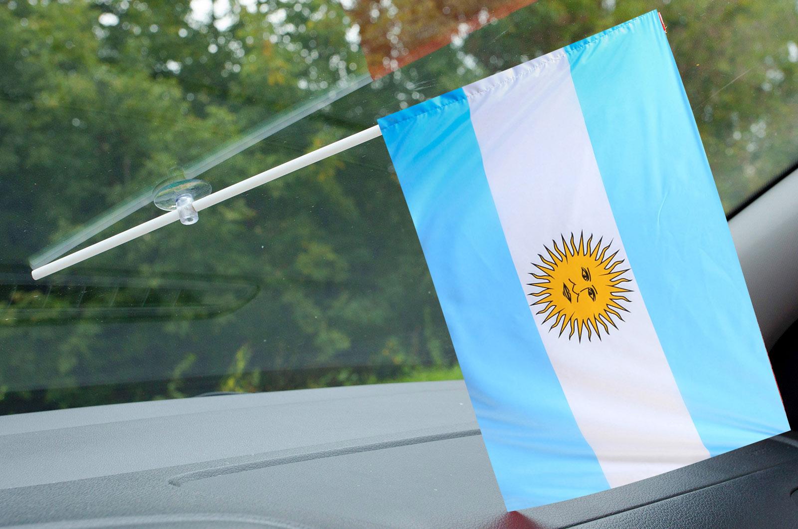 Флаг Аргентины в машину
