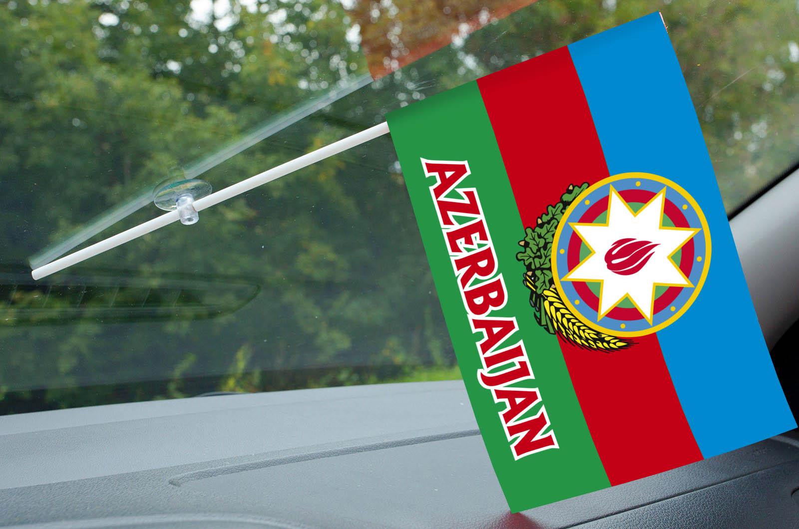 Флажок Азербайджана с надписью