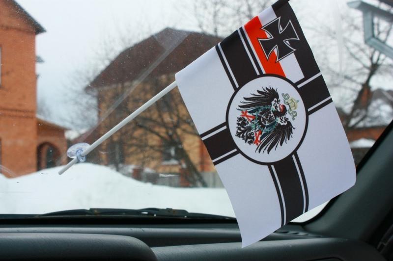 Двухсторонний флаг Императорских ВМС Германии