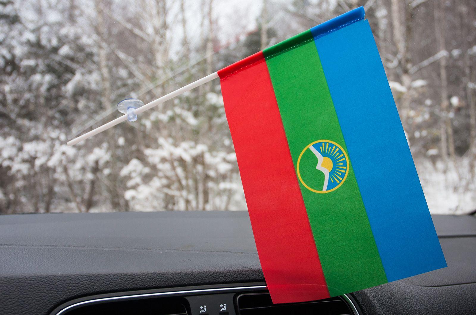 Флажок в машину с присоской Карачаево-черкесия