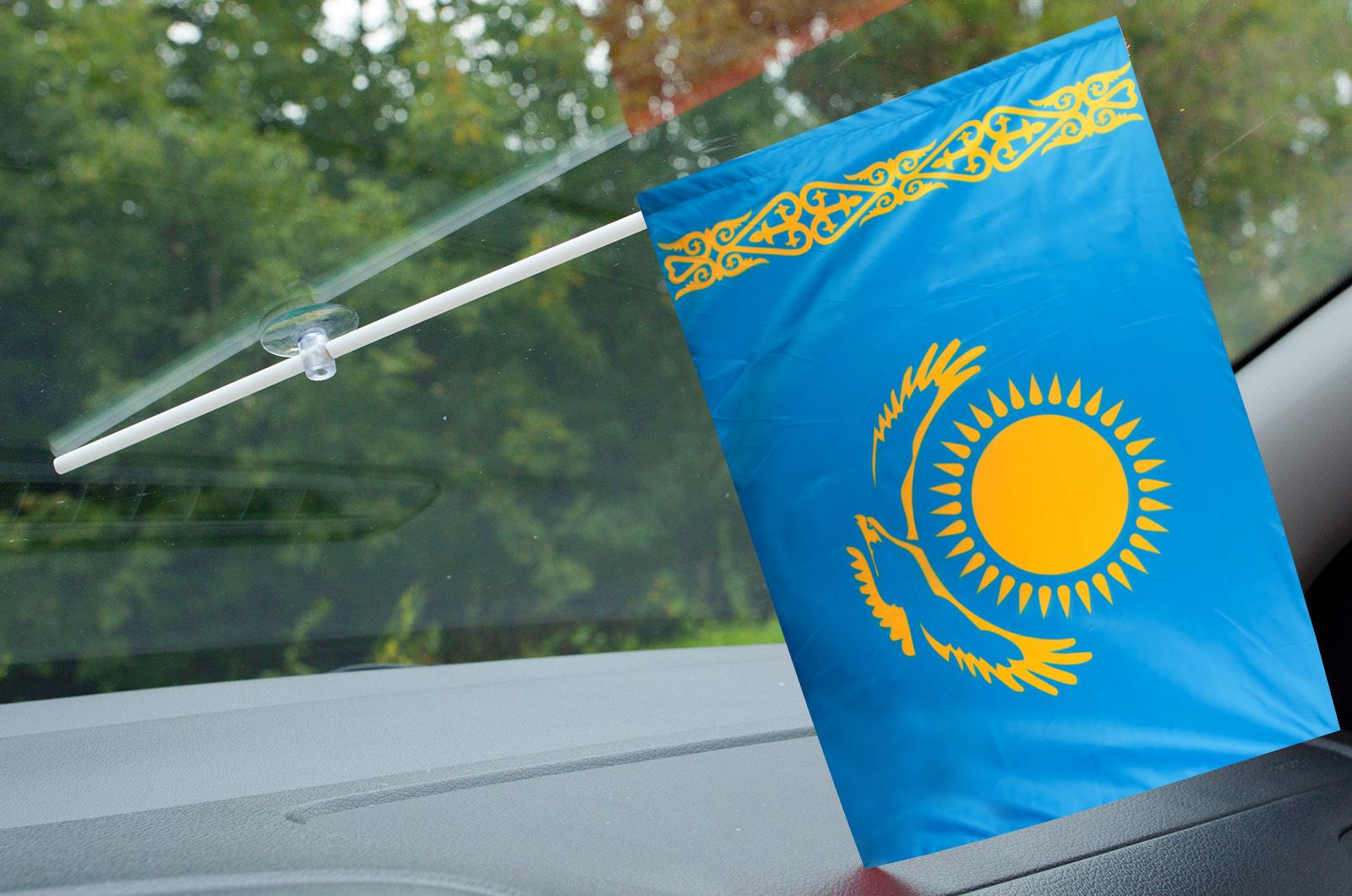 Флажок Казахстана в машину