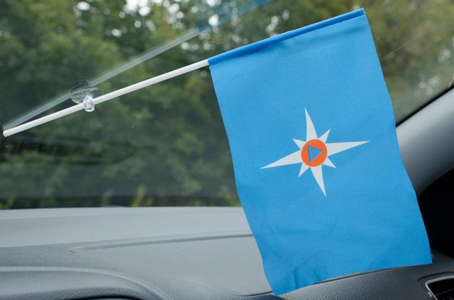Флажок в машину с присоской МЧС Чистый