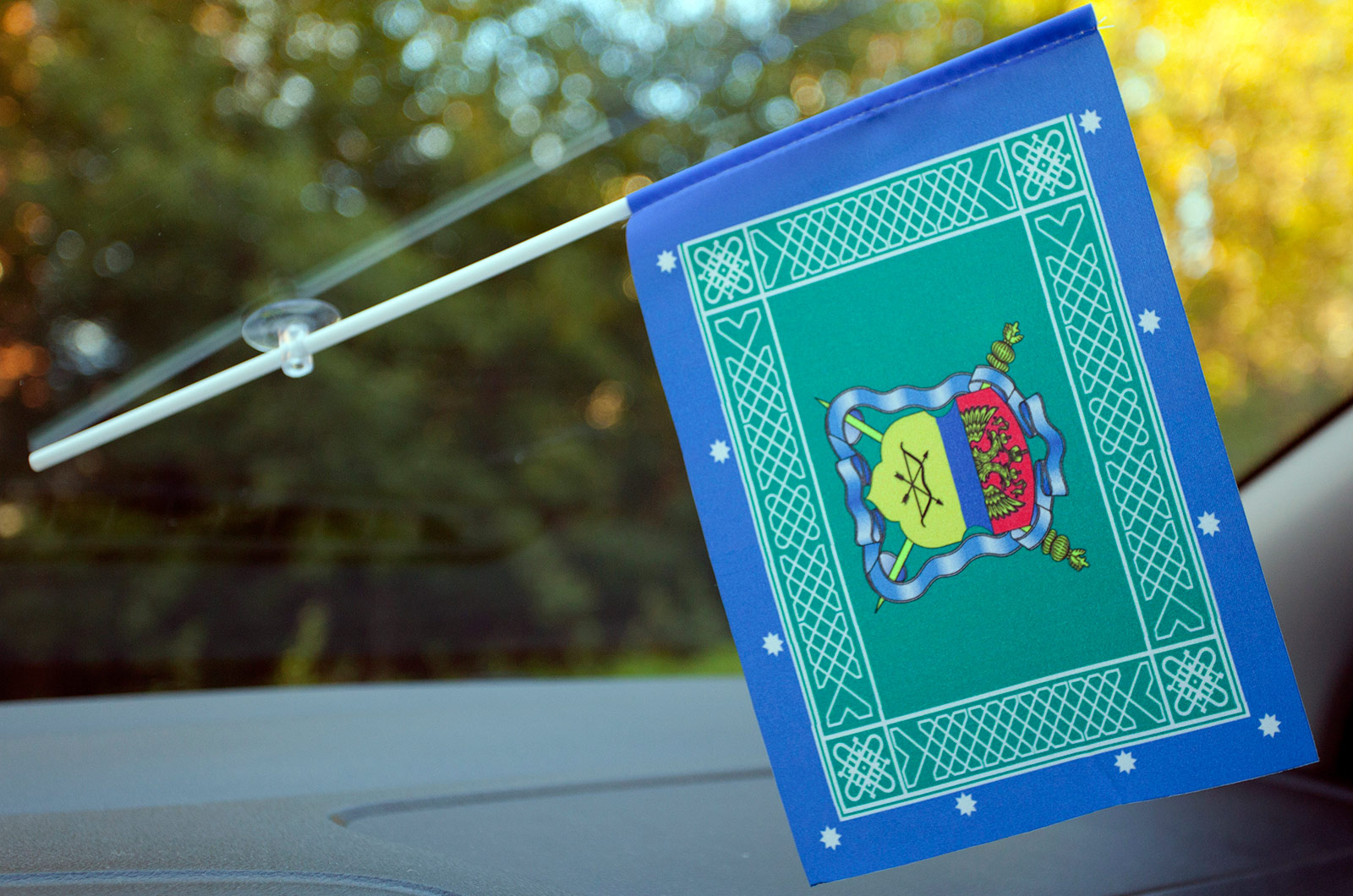 Флажок в машину с присоской Знамя Оренбургского Казачьего войска