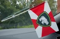 Флажок в машину с присоской Сибирский округ ВВ МВД
