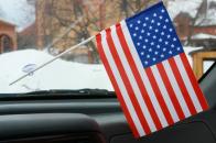 Флажок США в машину