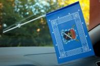 Флажок в машину с присоской Знамя войска Терского