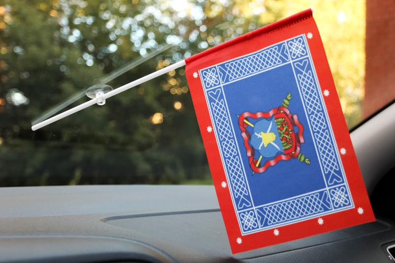 Флажок с присоской Знамя Волжского казачьего войска