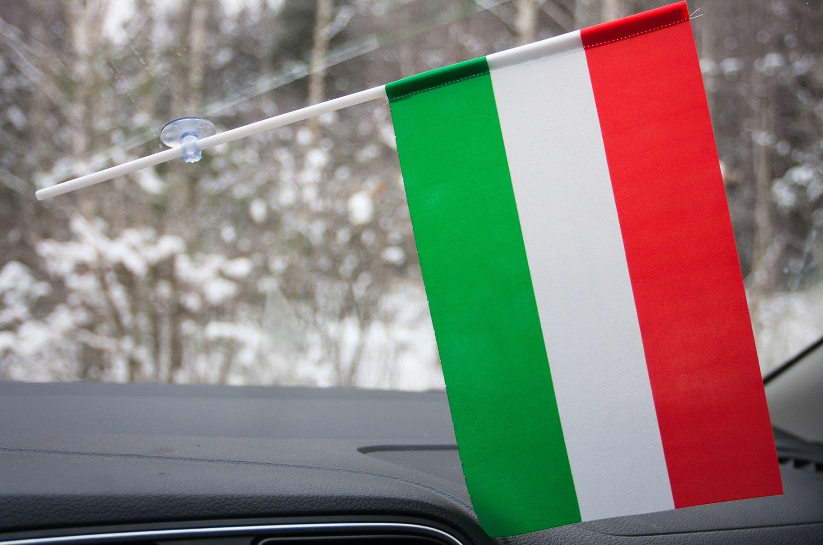 Флажок Венгрии на присоске