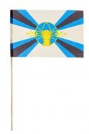 Флаг Войск РЭБ ВС России на палочке