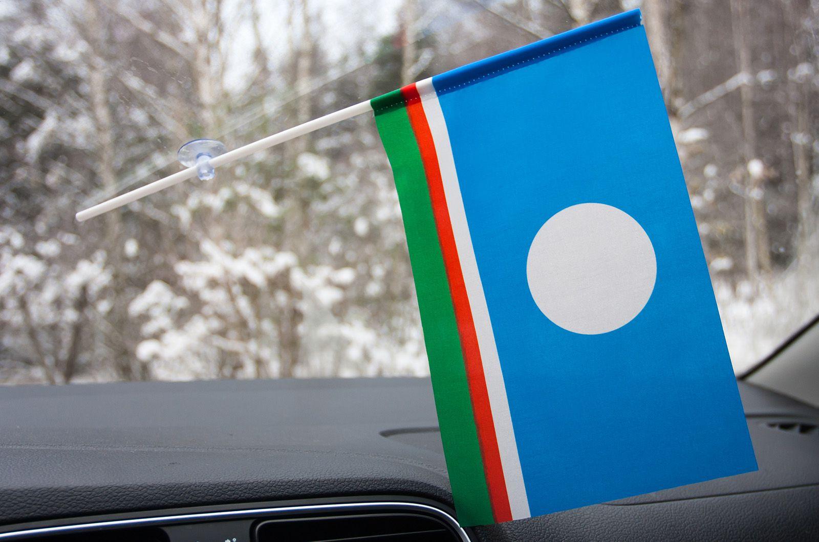 Флажок Якутии в машину