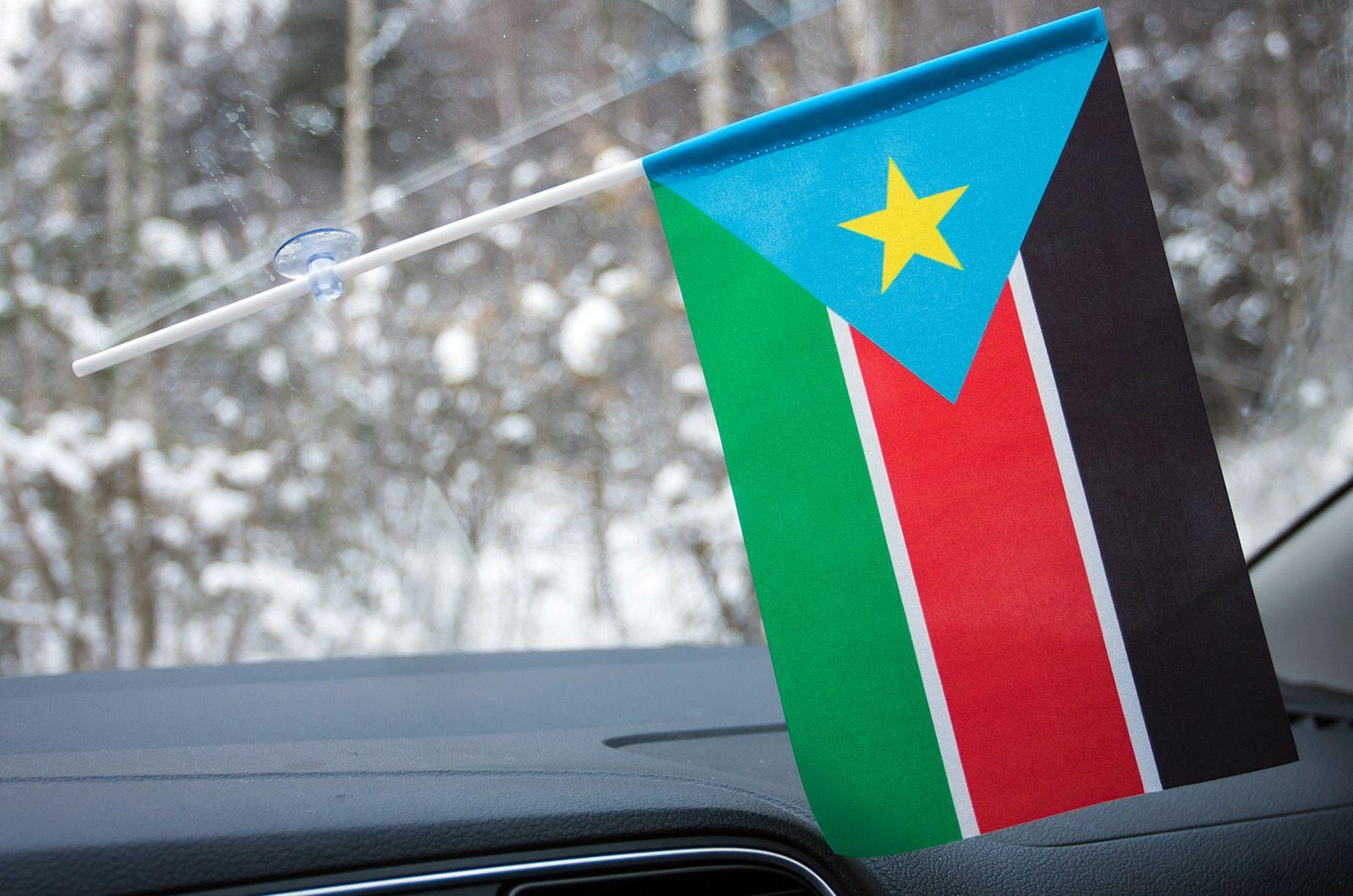 Флажок Южного Судана в машину
