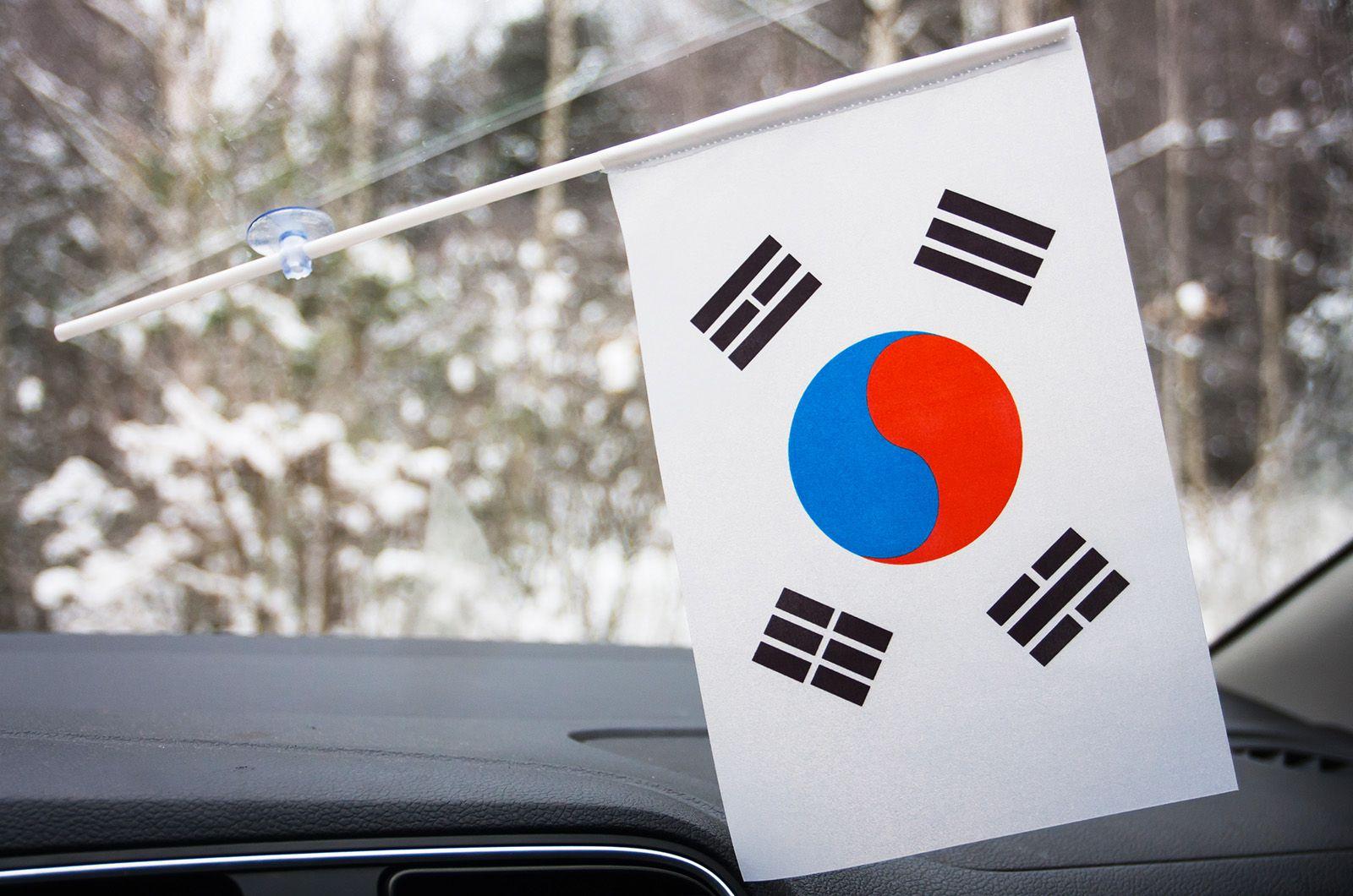 Флажок Южной Кореи в машину