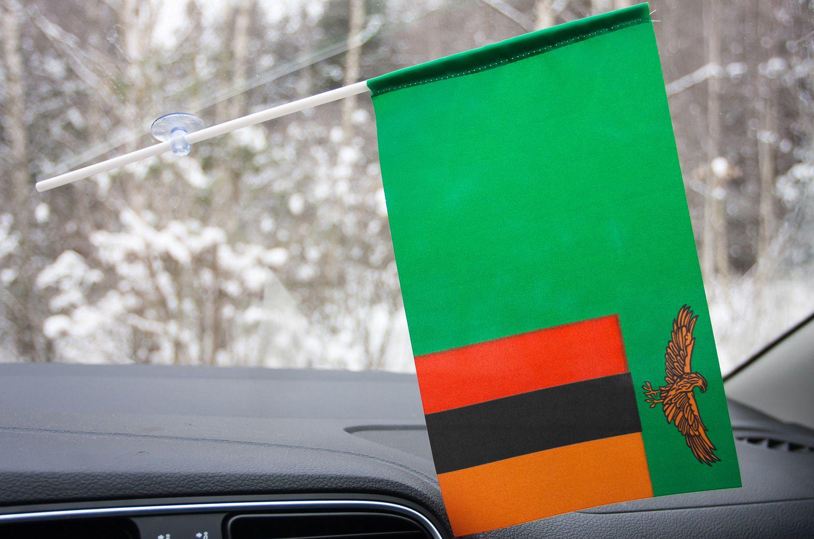 Флажок Замбии на присоске