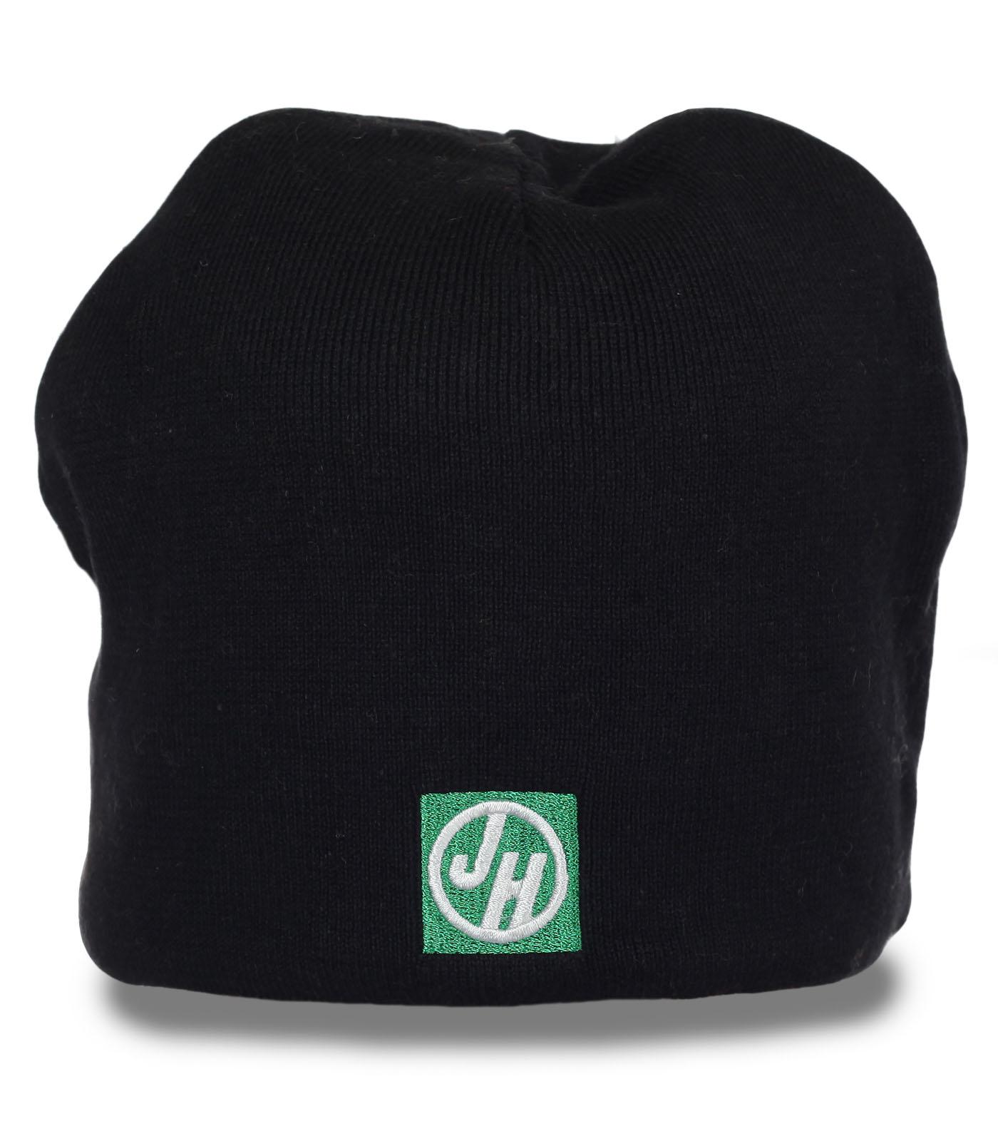 Флисовая мужская шапка JH. Теплая модель для холодной погоды. 100% согреет!