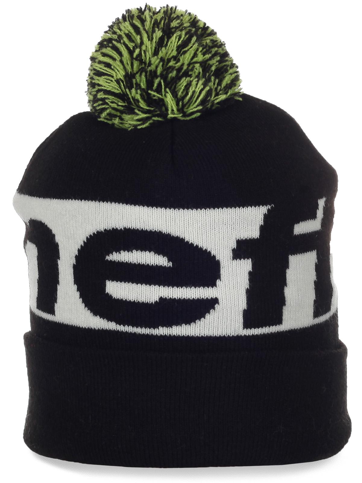 Флисовая мужская шапочка с помпоном от Neff