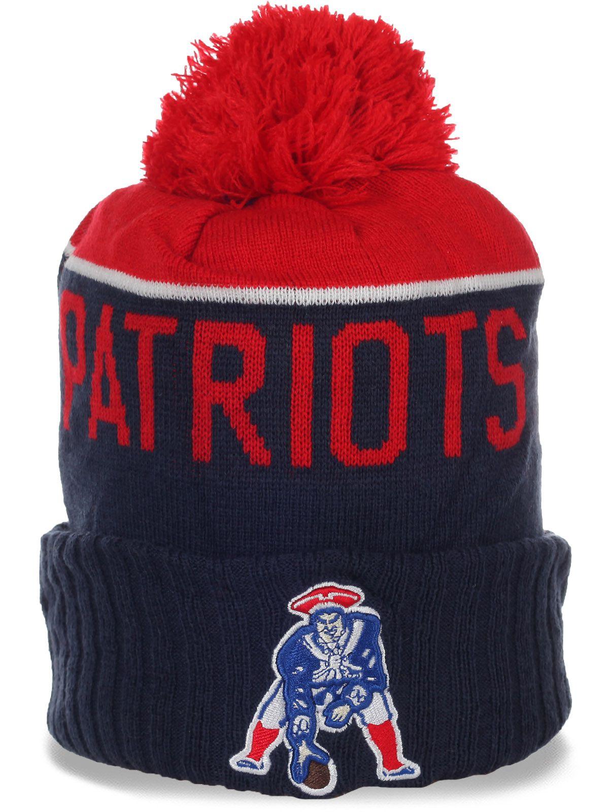 Флисовая мужская спортивная шапочка New England Patriots